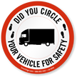 Circle Vehicle And Truck Security Label