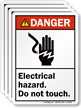Electrical Hazard Do Not Touch ANSI Danger Label
