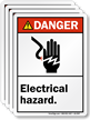 Electrical Hazard With Graphic ANSI Danger Label