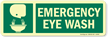 Emergency Eye wash (With Graphic/Glow) Label