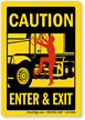 Caution 3 Point Contact Label