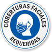 Face Covering Required Spanish Window Decal