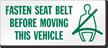 Wear Seat Belt Label