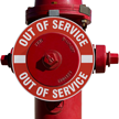 Out Of Service Fire Hydrant Marker - Red