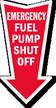 Fuel Pump Shut Off Arrow Safety Label