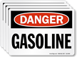 Gasoline OSHA Danger Label