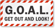 GOAL Get Out And Look Truck Safety Label