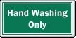 Hand Washing Only Restaurant Hygiene Label