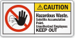 Hazardous Waste Satellite Accumulation Point ANSI Caution Label