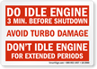 Do Idle Engine 3 Min. Before Shutdown Label