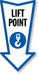 Lift Point Arrow Safety Label