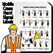 Crane Hoist Warning Label (Pack of 4)