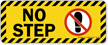 No Step Striped Border Yellow Label