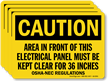 Area In Front Of This Electrical Panel Label
