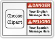 Custom Bilingual ANSI Danger/Peligro Label