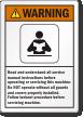 ANSI Warning Follow Lockout Procedure Label