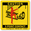 Caution 3 Point Contact Label onmouseover =