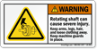 Rotating Shaft Can Cause Severe Injury Label