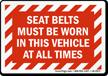 Seat Belt Label
