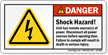 Shock Hazard Disconnect All Power Sources Label