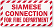 Siamese Connection For Fire Department Label