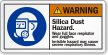 Silica Dust Hazard Wear Full Face Protection Label