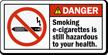 ANSI Danger Electronic Cigarettes Prohibited Label