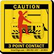 3 Point Contact Labels - Trailer Swing Doors
