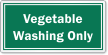 Vegetable Washing Only Restaurant Hygiene Label