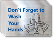 Don't Forget To Wash Your Hands Mirror Decal