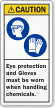ANSI Caution PPE Label