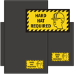 Hard Hat Required WaterHog Sign Mat with Border