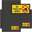 No Food Or Drink WaterHog Sign Mat