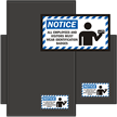 Employees and Visitors Must Wear Identification Badges Mat
