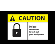 Lock Out Equipment Safety Message Mat