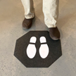 Stick and Stand Footprint Fabric Floor Mat