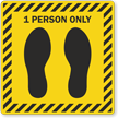 1 Person Only Social Distancing SlipSafe Floor Sign