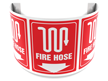 180 Degree Projecting Fire Hose Sign with graphic