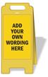 FloorBoss XL™ Custom Floor Free-Standing Sign onmouseover =