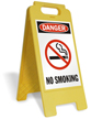 Danger No Smoking with Graphic Free-Standing Sign