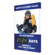 Safety Is A Family Value (Child Sledding) Sign