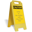 Caution Blank Fold-Ups® Floor Sign