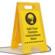 FloorBoss XL™ Custom Standing Floor Sign