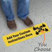Add Your Custom Social Distancing Instructions Floor Sign