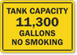 Add Your Custom Tank Capacity And Customized Text Sign