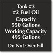 Add Your Custom Tank Number Tank Contents And Text Sign
