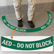 AED - Do Not Block, 2-Part Floor Sign