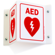 AED Projecting Sign, 6in. x 5in.