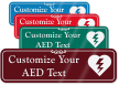 Custom ShowCase™ AED Sign