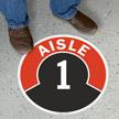 Aisle ID 1 Floor Sign